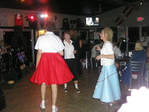 The Do's & Don'ts 50's Poodle skirts at Bobbers Grill