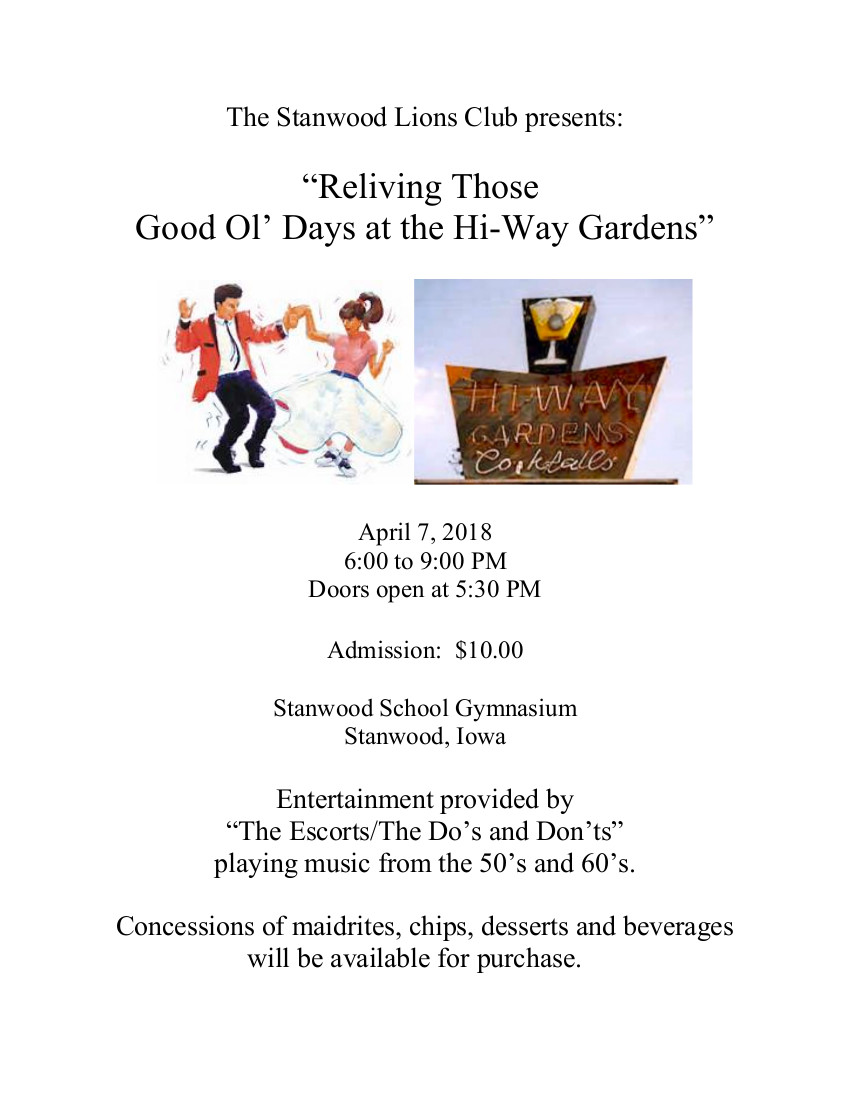The Do's & Don'ts at Stanwood, Iowa April 7, 2018 Flyer