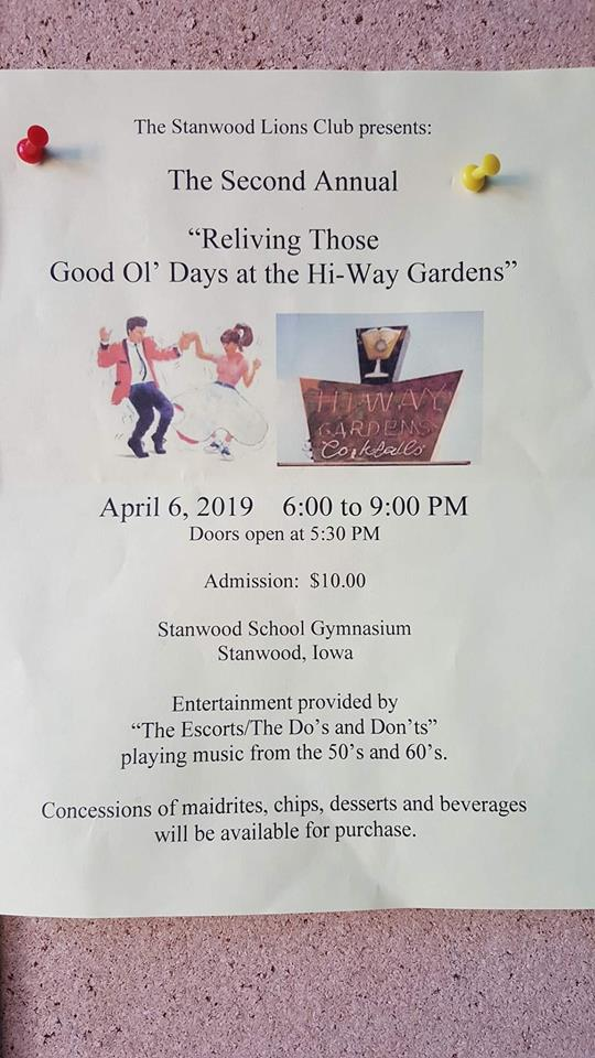 The Do's & Don'ts at Stanwood, Iowa April 4, 2020 Flyer