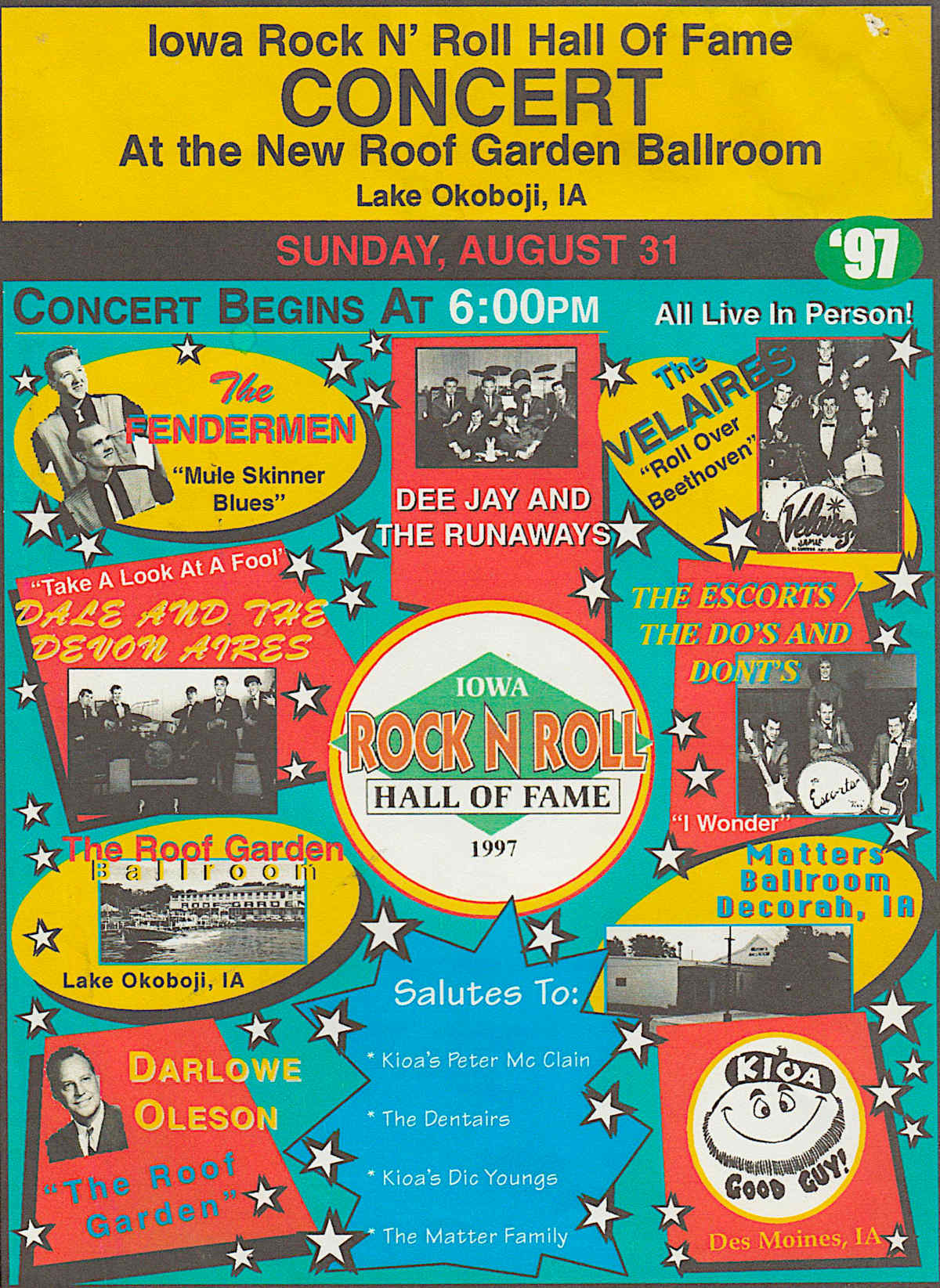 Iowa Rock N Roll Music Association's 1997 Hall of Fame Concert