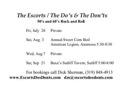 Do's and Don'ts Schedule, Formatted for print