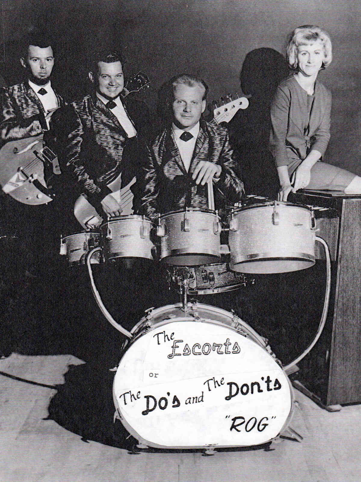 The Do's & Don'ts Band original members: Dick Burns, Dick Sherman, Roger Booth, and Zelda Sherman.